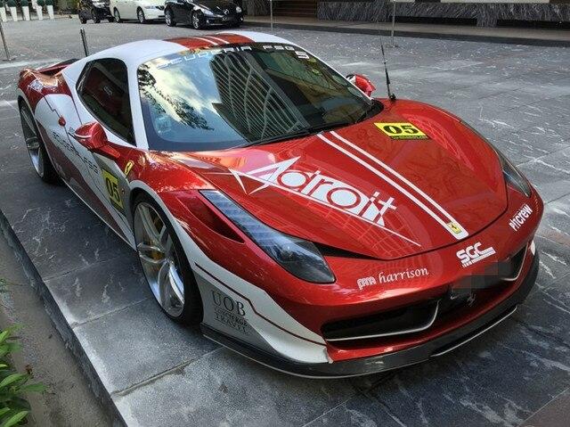 a60cf2ebf2400 For Ferrari 458 V style carbon fiber front lip diffuser spoiler fog light  frame set bodykit