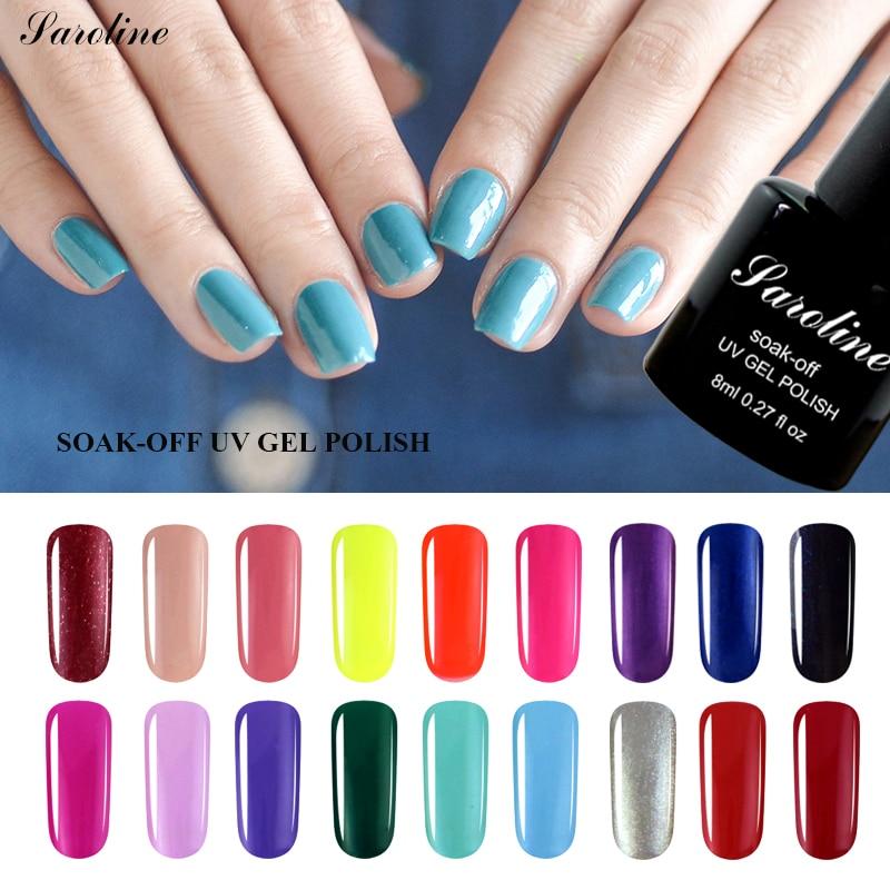 Saroline Lucky Color Nail Gel Lacquer Fingernail Soak Off