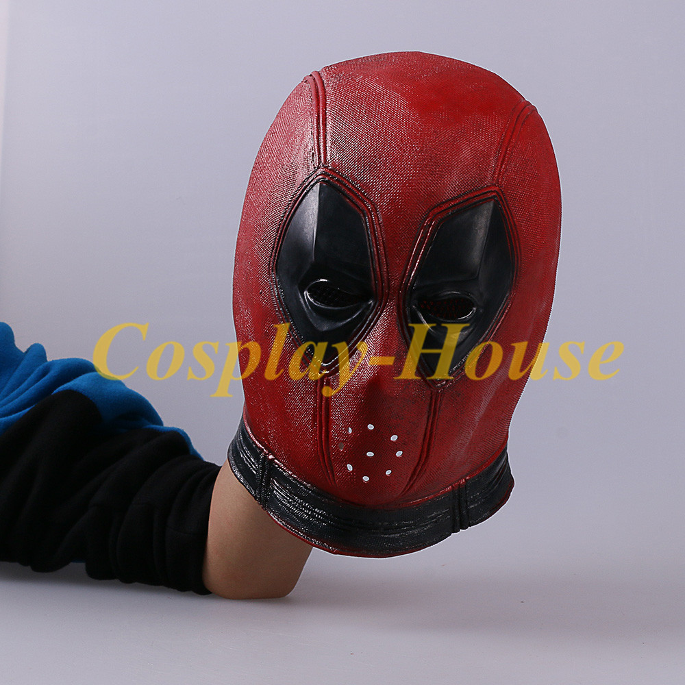 Cos Marvel Superhero Deadpool Mask Man Breathable Latex Full Face Cool Mask Halloween Cosplay Prop