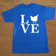 Funny Barnyard Farm Animal Love Chickens T Shirt Cotton Short Sleeve T-shirts Men Top Tees Camisetas Masculina