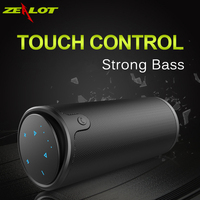 Zealot S8 Touch Control Wireless Bluetooth Sport Speaker HiFi Stereo Portable Subwoofer 4000mAh PowerBank Support 3D