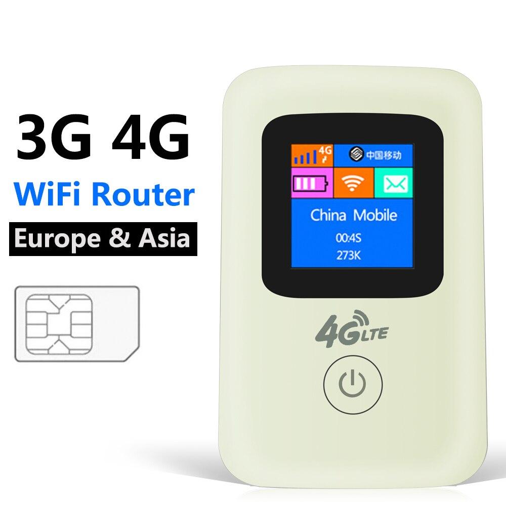 4G Mobile Wifi Routeur 150 M Poche Mini Portable 3G 4G LTE Cellulaire Téléphone Cellulaire Routeur Avec SIM Fente Pour Carte Mifi Modem Répéteur