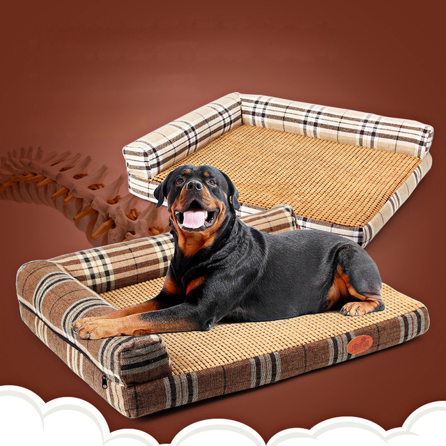 New Hot Luxury Dog Beds Mat For Medium Large Dogs Bed Cats Washable Square