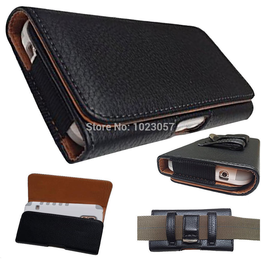 Black Leather Flip Belt Clip Hip Loop Holster <font><b>Pouch</b></font> Cover For Blackview BV7000 Pro <font><b>Smartphone</b></font> 4G