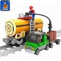 Kits de edificio modelo compatible con lego trenes rieles 199 unids 3d modelo de construcción bloques educativos juguetes y pasatiempos para niños
