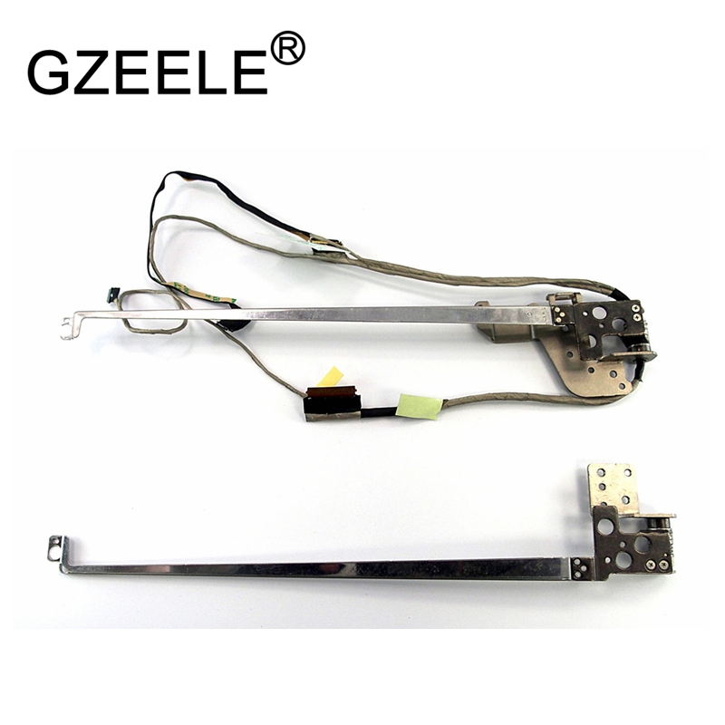 GZEELE NEW For Lenovo flex2 15 Flex 2 15 lcd video screen display cable L+R Hinge Set w/ Cable 5H50F76792 460.00Z0H.0003 REV.A03