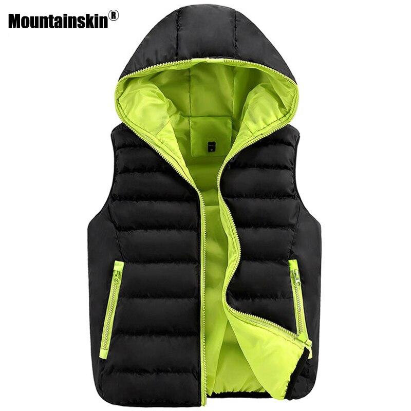 Mountainskin Winter font b Men s b font Vest Casual font b Jackets b font Slim