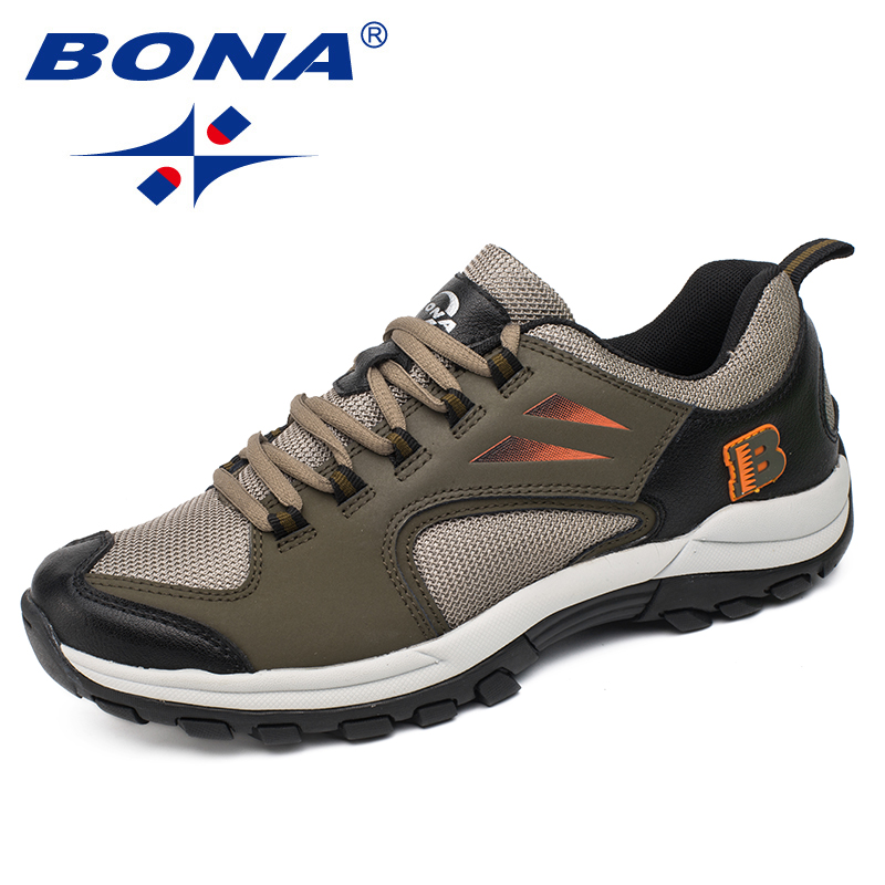 BONA New Typical Style Men Hiking Shoes Outdoor Walking Trekking Shoes Antiskid Climbing Sneakers Men Comfortable