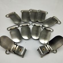 Gümüş/antik bronz Metal askı Paci emzik şerit klipler tutucu askı konfeksiyon zanaat kare plastik insert 20mm/25mm