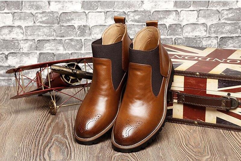 YIGER Men's Chelsea Boots 16