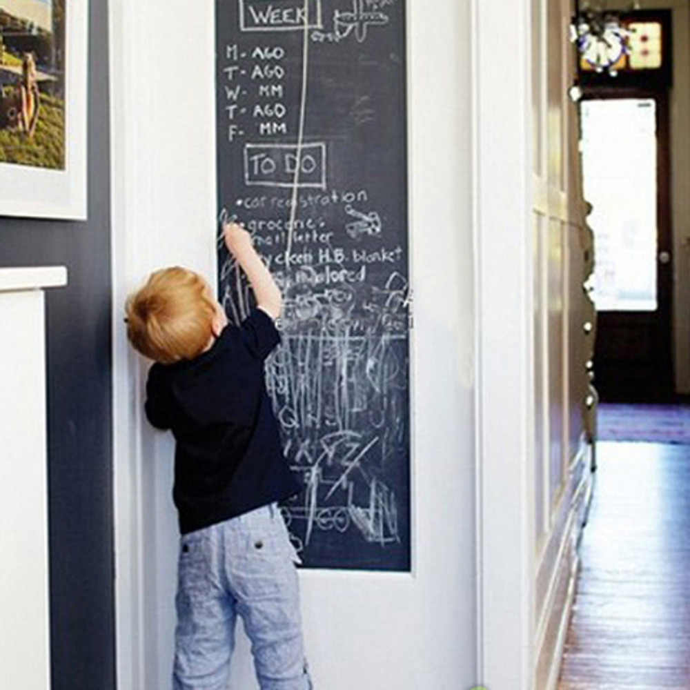 Виниловая мельная доска стены наклейки Съемная школьная доска самостоятельно клеющаюся доска рисовать росписи наклейки художественная доска большой подарок для малыша