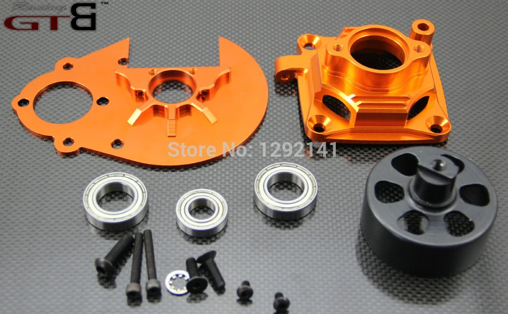 HD Super duty clutch system w 17T orange (17mm housing & 30mm bearing ) for baja 5b ,ss ,5t Silver and orange color