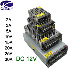 DC 12V LED strip driver Power Adapter 1A 2A 3A 5A 10A 15A 20A Switch Power Supply AC110V-220V 24V Transformer Power 60W 78W 120W(China)