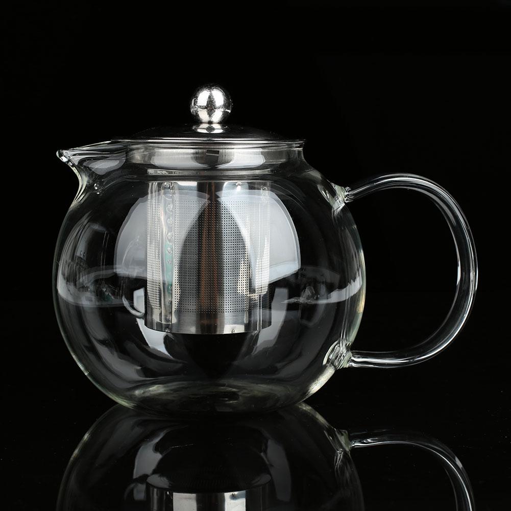 SOLEDI Чай горшок стакан для фруктового сока термостойкие кухонный чайник Кофе фильтр напитки деревянные чашки для чая Посуда для дома - Цвет: 950ml