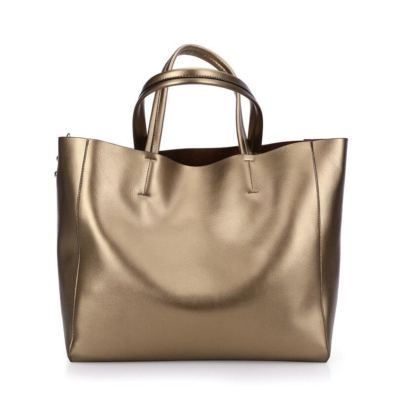Nesitu Grigio Argenteo Dorato Rosso Nero Blu Viola Split Leather Sacchetti di Spalla Delle Donne Shopping Bag Messenger Bag Borse Totes # M0602