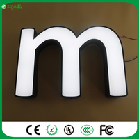 Outdoor Advertising Acrylic Illuminated Signs 3D Letters Customized
