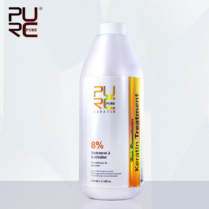 PURC Hot Sale 1000ml 8 Formaldehyde hair treatment products Brazilian keratin chocolate smell for hair treatments