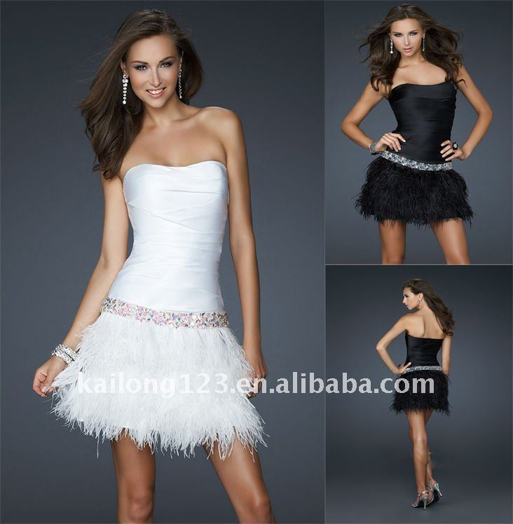Cocktail Dress Feathers - Ocodea.com