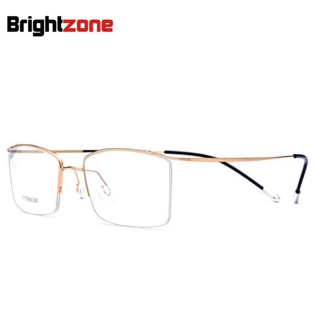 Brightzone 4 Frame Colors Half Rim Spectacle Frame Men Women Super-Elastic Titanium Prescription Myopia Hyperopia Glasses Frame