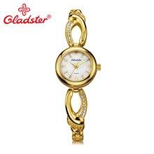 Gladster Japan Movement TMI женские часы модные золотые водонепроницаемые женские наручные часы браслет ювелирные изделия платье женские кварцевые часы