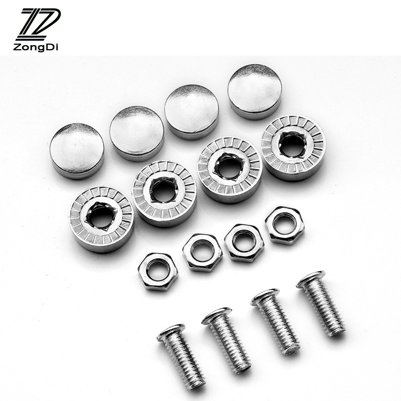 ZD 16X Car License Plate Bolts Frame Chrome Screws for VW Golf 4 7 5 MK4 Mazda 6 cx-5 Peugeot 206 207 208 508 Touareg Tiguan exhaust tips on jaguar xe