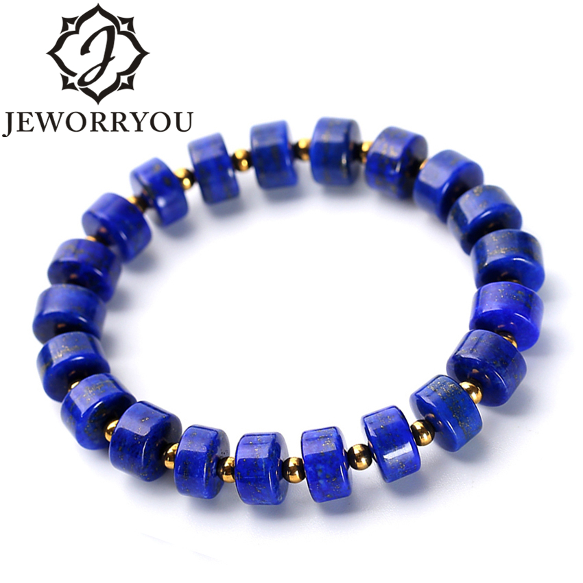 6x10mm Lapis Lazuli Natural Stone Bracelet Jewelry Accessories Charms Bracelet Men Jewelry Silver Bracelet Male6x10mm Lapis Lazuli Natural Stone Bracelet Jewelry Accessories Charms Bracelet Men Jewelry Silver Bracelet Male