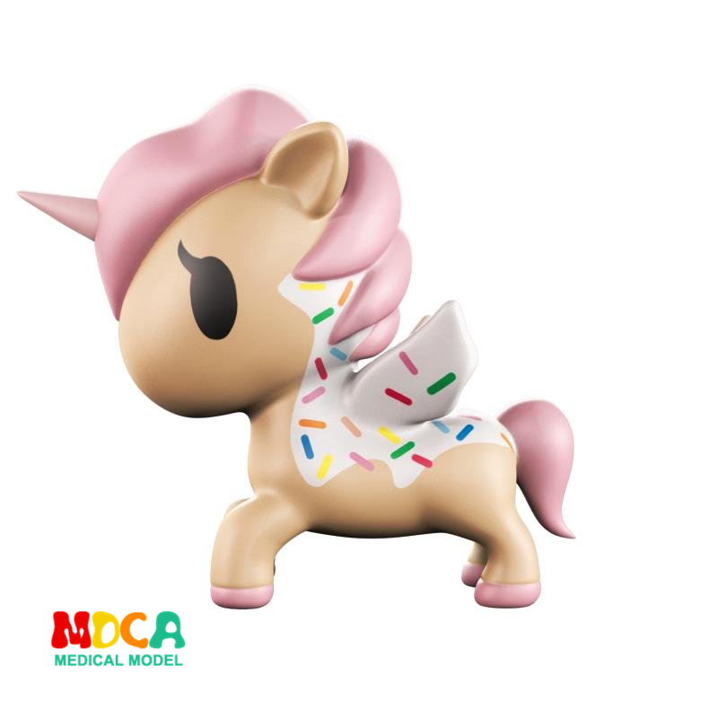 Pink Unicorn 4D XXRAY master Mighty Jaxx Jason Freeny anatomy Cartoon ornament cacti mighty 4d xxray master mighty jaxx jason freeny anatomy cartoon ornament