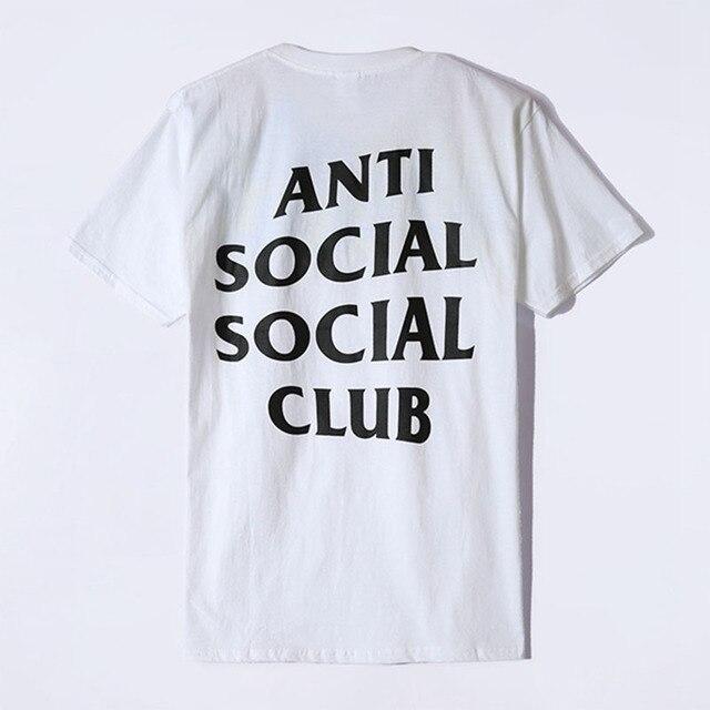 d9fbed8c3441 2016 Summer Anti Social Social Club T Shirt ASSC Classic Design Basic  Letter Slogan Short Sleeve T-shirt Yeezue Tee