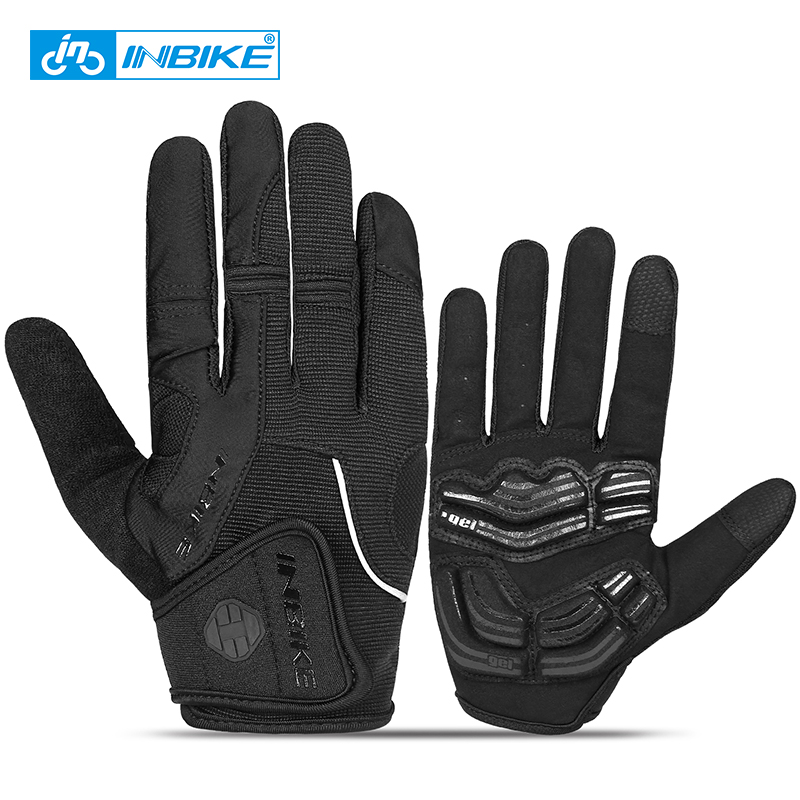 INBIKE Sport Gloves Shockproof Cycling Gloves Touch Screen GEL Riding MTB Bike Glove Motorcycle Winter Autumn Woman Men Clothing