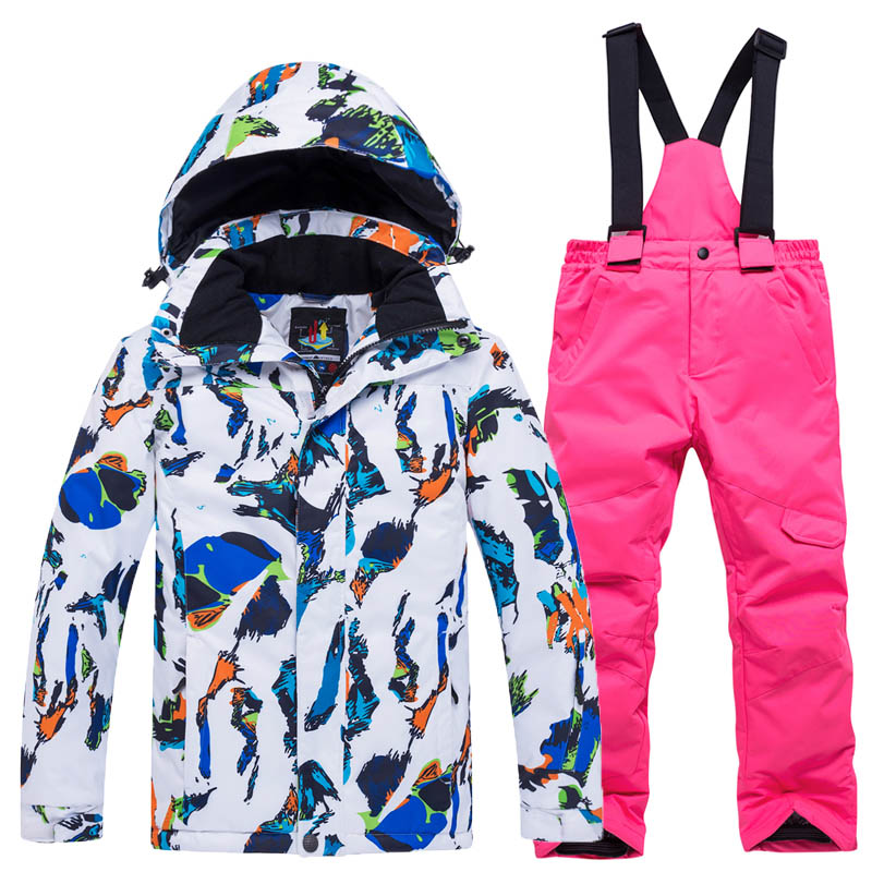 Tringa Kids Ski Suit Children Windproof Waterproof Warm Girls And Boy Snow Set Pants Winter Skiing And Snowboarding Jacket ChildTringa Kids Ski Suit Children Windproof Waterproof Warm Girls And Boy Snow Set Pants Winter Skiing And Snowboarding Jacket Child