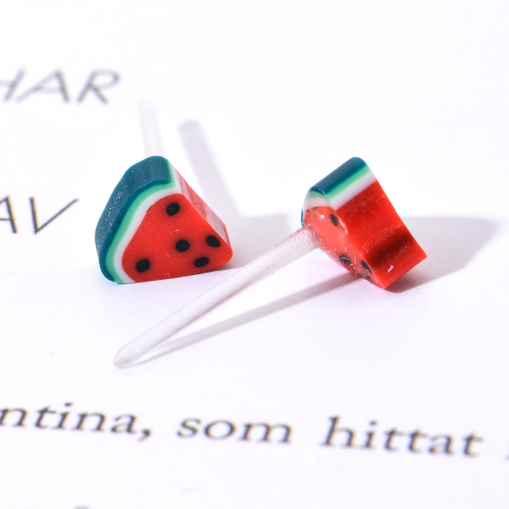 36 pairs/set Women Cute Fruits Small Stud Earrings Set Soft Clay Mini Earring For Girl Child Fashion Jewelry Party Birthday Gift