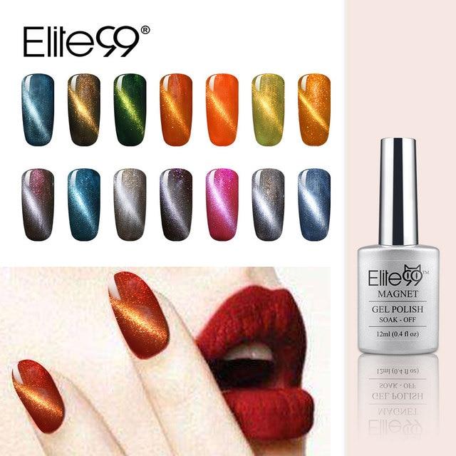 Elite99 12ml UV LED Gel Cat Eye Gel Nail Polish For Gel Nail Cat ...