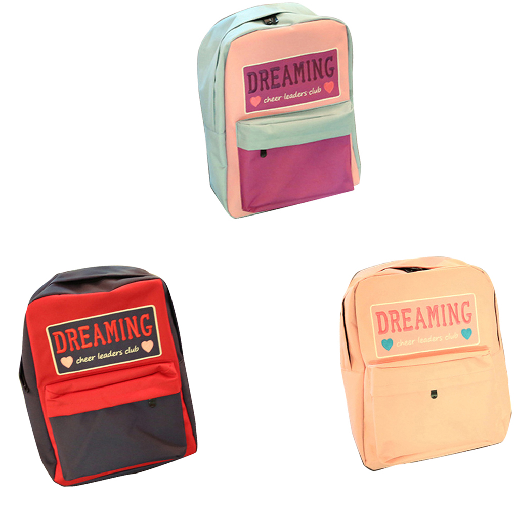 School bag embroidery - Dreaming Cheer Leaders Club Embroidery Backpack Schoolbag Student Travel Shoulder Bag