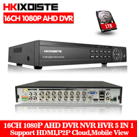 HKIXDISTE 16 Channel AHD 1080P DVR 16CH AHD AHD H 1920*1080 2.0MP CCTV Video Recorder DVR NVR CVI TVI HVR 5 In 1 Security System