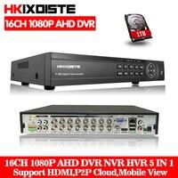 HKIXDISTE 16 Kanal AHD 1080 P DVR 16CH AHD AHD H 1920*1080 2.0MP CCTV Video Recorder DVR NVR CVI TVI HVR 5 In 1 Sicherheit System-in Überwachungsvideorekorder aus Sicherheit und Schutz bei