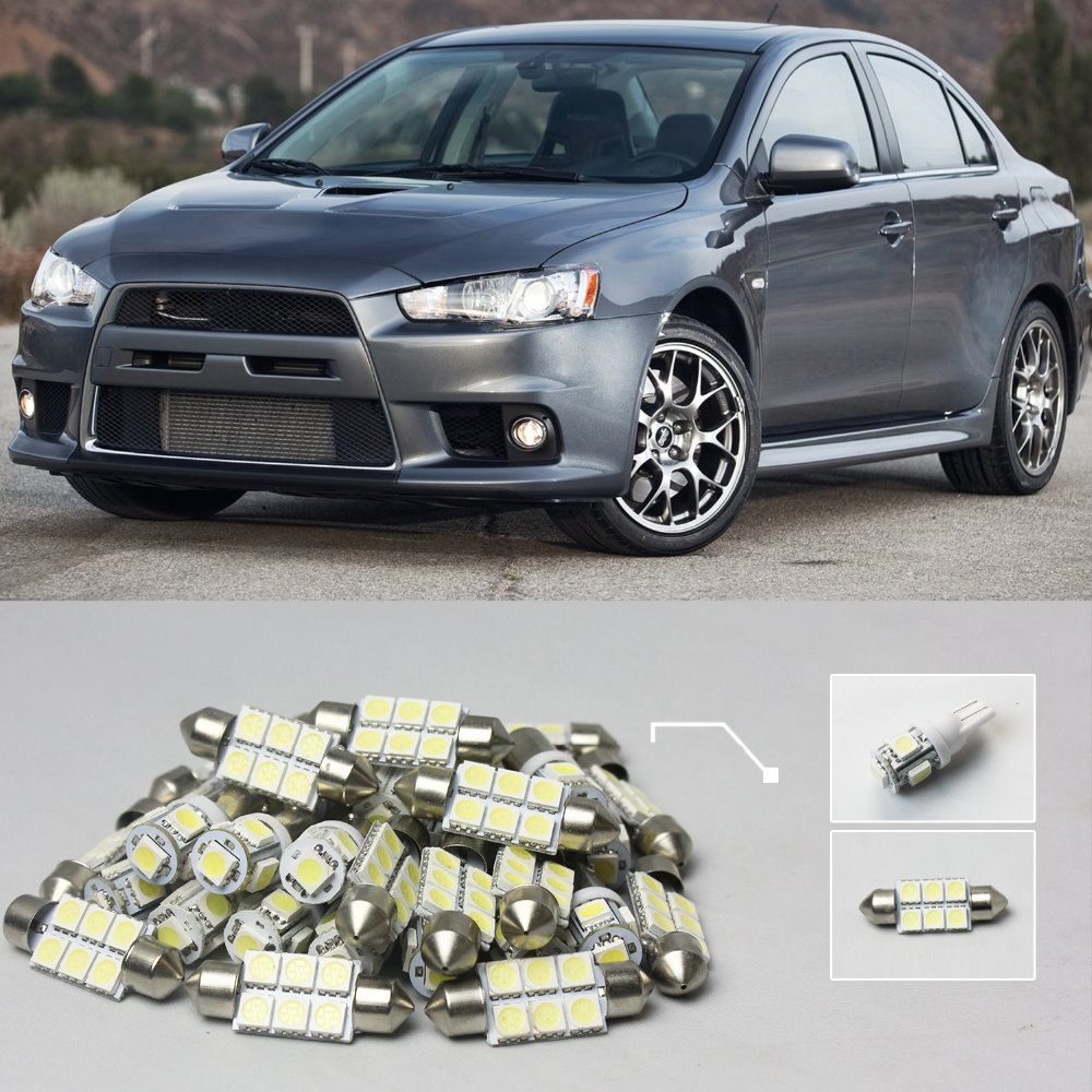 High Quality Car LED Kit Package Interior Bulbs White 12V  Plug & Play For 2007-2012 Lancer or Evolution jt paintball ready 2 play marker kit outkast power package