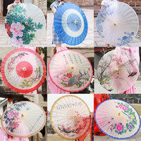 Chinese Classical Oiled Paper Umbrella Rain Women Peony Handmade Ancient China Style Decorative Japanese Umbrella Photographic