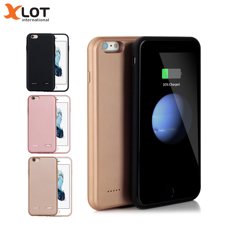 Xlot 3700mah Battery charger Case Slim Ultra Thin Smart Backup charge Case For iPhone 7 7 Plus Power Case cover