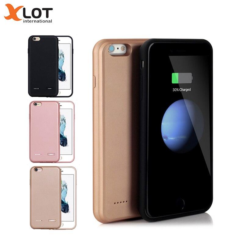 Xlot chargeur de batterie étui pour iphone 7 7 Plus boîtier d'alimentation 2500/3700 mAh Ultra mince batterie de secours Pack étui pour iphone 8