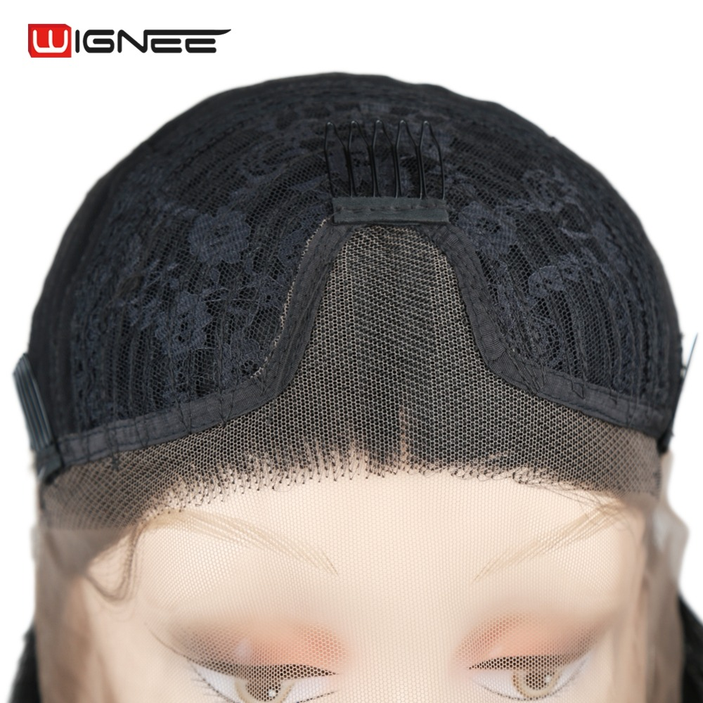 Wignee Σύντομη Bob Lace Περούκες Συνθετικές - Συνθετικά μαλλιά - Φωτογραφία 5