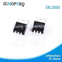 10PCS IRL2505PBF TO 220 IRL2505 MOSFET MOSFT 55V 104A 8mOhm 86.7nC LogLvAB Nuovo originale di trasporto libero