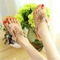 2017 New Women's Sandals Fashion Sandals Flower Ladies Summer Flat Bottom Bohemia Flowers Beach Sandals 36-40 Yards .HYKL-805