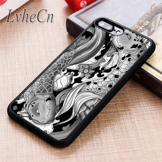 Maifengge Koi Carp Fish Japanese Floral Cherry Case For Iphone 6 6s 7 8 Plus X 5 5s Se Case Cover For Samsung S5 S6 S7 Edge S8 Cellphones & Telecommunications Fitted Cases