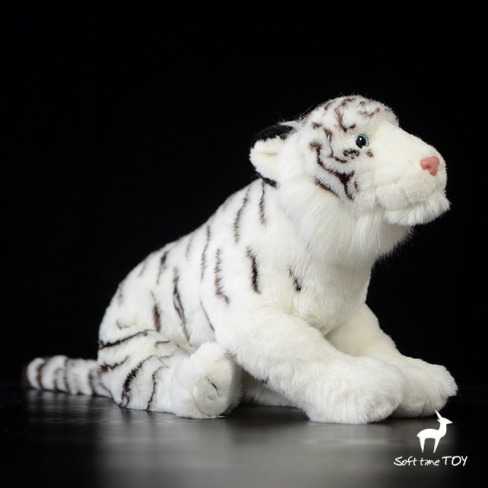 Large Dolls  Simulation White Tiger  Doll Kids Toys Pillow Gift Stuffed Animal Toy Shops lovely tiger plush toys white tiger toy stuffed tiger doll cute small white tiger pillow birthday gift 30cm
