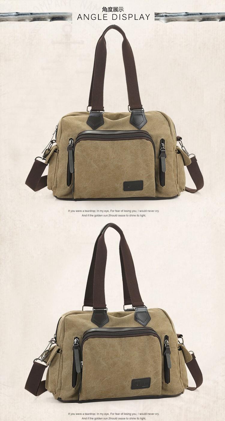 2016 men\'s travel bag canvas men messenger bag brand men\'s bag vintage style briefcase,Travel Shoulder bag (19)