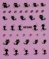 1 Лист Мода Ногтей Наклейки Для Ногтей Наклейка 3D Дизайн Украшения Ногтей Наклейки/Таблички XF249!