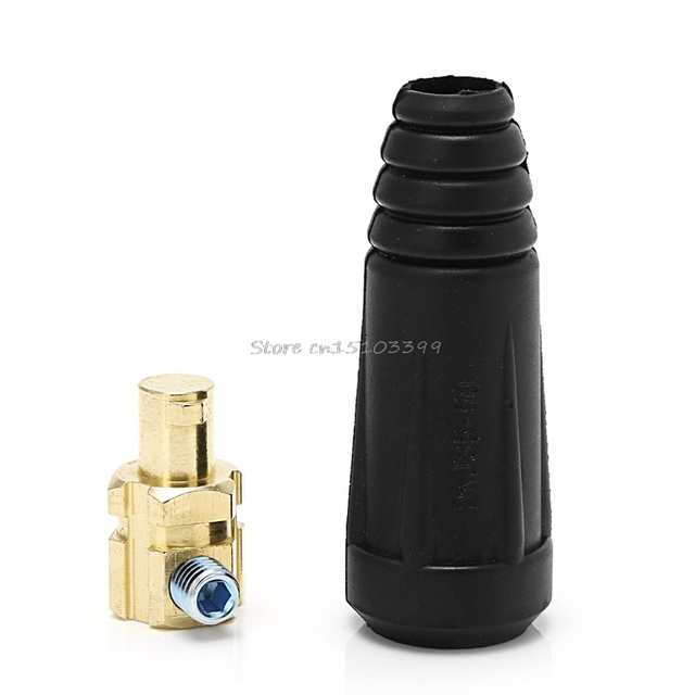 DKJ35-50 Welding Soldering Dinze Plug Male Fitting Quick Connector Welder Welding Equipment Drop Ship