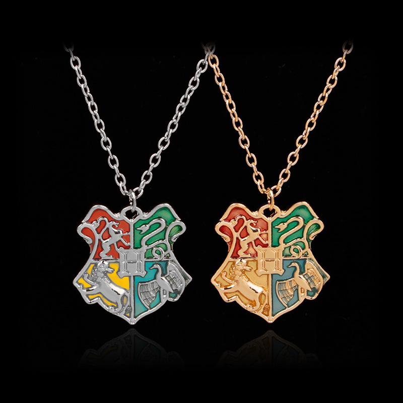 Fashion Jewelry Magic School Badge Necklace Vintage Necklace Popular Movie Jewelry Gifts for Young Boys