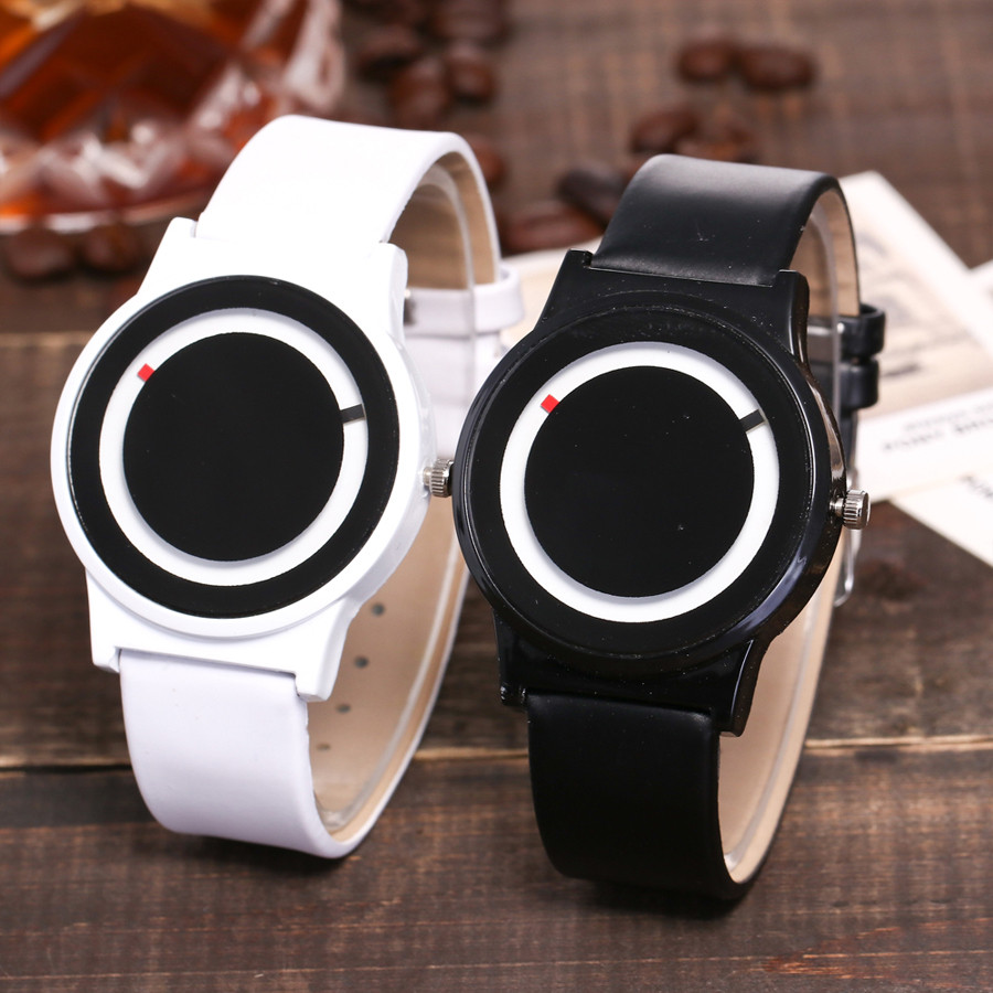 Vansvar Women's Casual Quartz Leather Band New Strap Watch Analog Wrist Watch  Creative Montre Femme Black White 2019 Watches Q