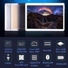 Original 10 inch 3G/4G LTE Phone tablet PC Octa Core RAM 4GB ROM 64GB 1920*1200 IPS Dual SIM card tablets pcs 10.1 free Shipping